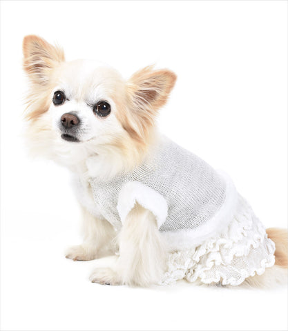 Ice Princess Dog Sweater Dress - Oscar Newman