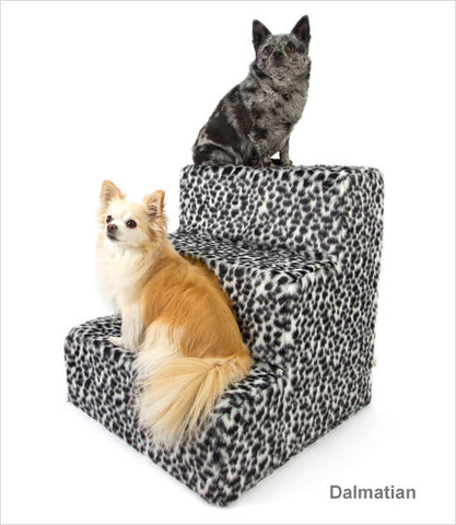 Dalmatian cover 3-step pet stairs