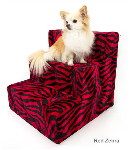 Red Zebra 3-step dog stairs
