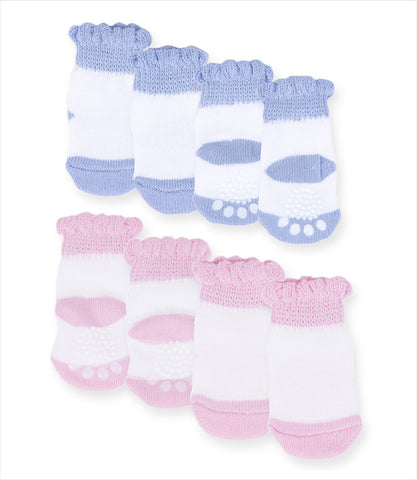 Pink and Blue Non-Slip Socks from Puppe Love