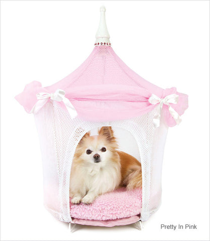 Pretty in Pink Pet Tent Dog Bed