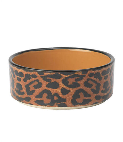 Leopard Dog Bowl Dish