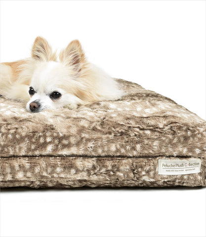 Cuddle Cloud Bambi Square Dog Bed by Peluche Plush