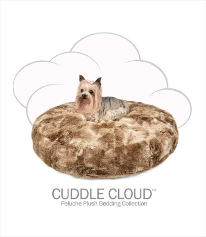 Cuddle Cloud Round Dog Bed - Peluche Plush Bunny Cocoa
