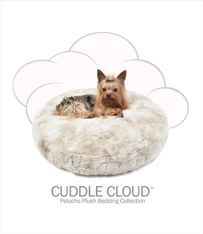 "Cuddle Cloud 24"" Round Dog Bed - Bunny Cream"