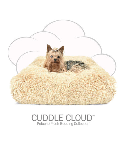Cuddle Cloud Dog Bed - Camel Shag Square