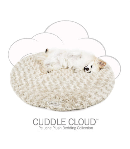 "Cuddle Cloud 28"" Round Dog Bed - Rose Petal Fawn"