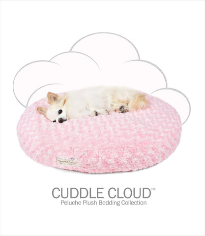 "Cuddle Cloud 28"" Round Dog Bed - Rose Petal Pink"
