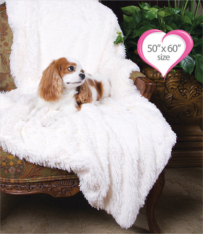 Peluche Plush Powder Puff Throw - Ivory