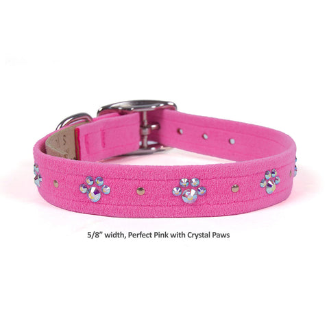 Perfect Pink w Crystal Paws 5/8 inch