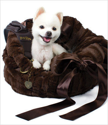 Pet Flys Brown Snuggle Bug Carrier