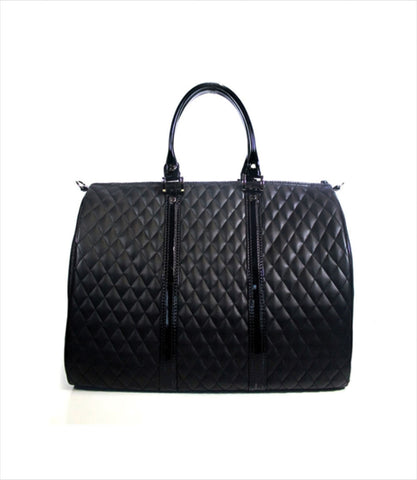 JL Duffel Pet Carrier - Black Quilted