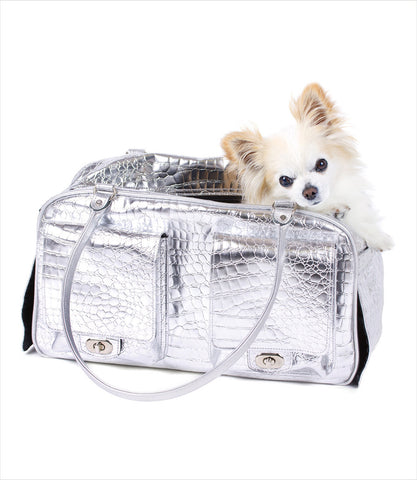 Petote Marlee Dog Carrier Bag - Silver Gator