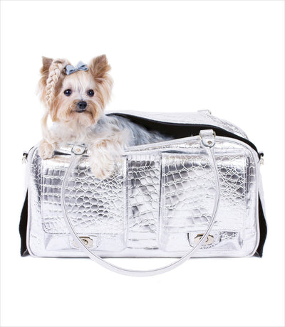 Petote Marlee Collection Bag - Silver Gator