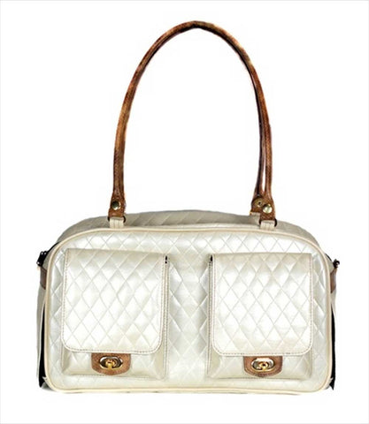 Petote Marlee Collection Bag - Ivory Quilted