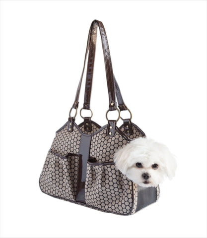 Metro Collection Pet Carrier - Noir Dots w Dog