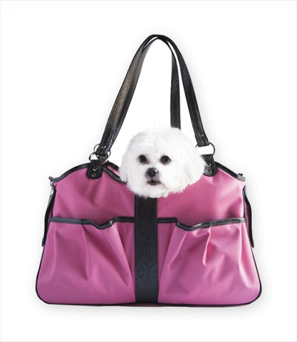 Fuhsia Metro Carrier with Dog