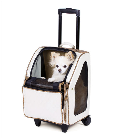 vory Quilted Rio Bag on Wheels Pet Carrier