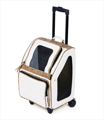 Rio Bag on Wheels - Ivory Quilted