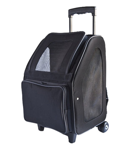 Rio Bag on Wheels Carrier in Black by PeTOTE