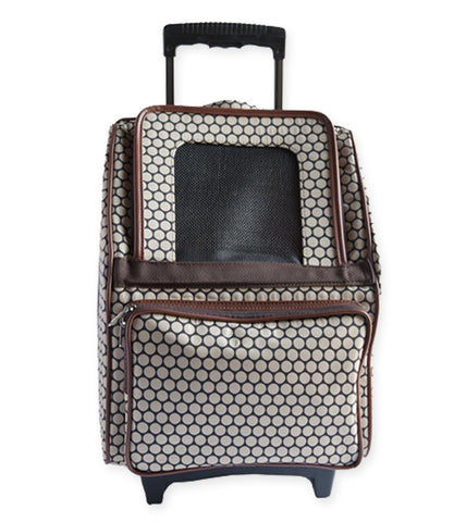 Rio Bag on Wheels in Noir Dot by PeTOTE