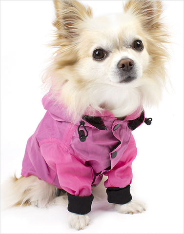 Front View Pink Dog Wind Jacket