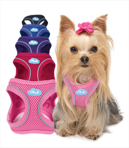 Plush Step-In Air Mesh Dog Vest Harness