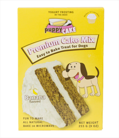 Dog Cake Mix in Peanut Butter, Banana, Carob, and Red Velvet