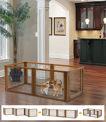 3-IN-1 Elite 6-Panel Pet Gate, Low