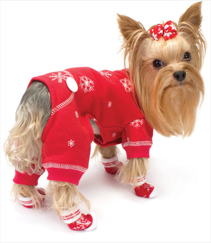 Red Dog Snowflack PJ Yorkie