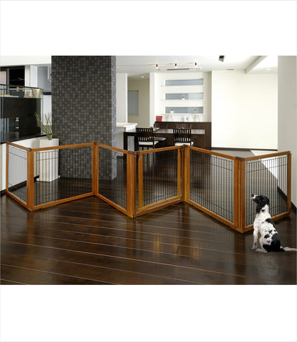 6-panel convertible pet gate