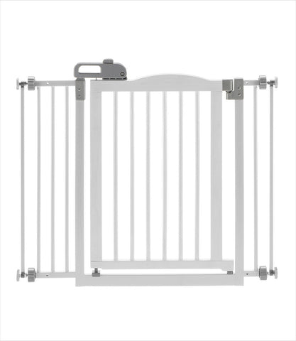 Origami White pet gate