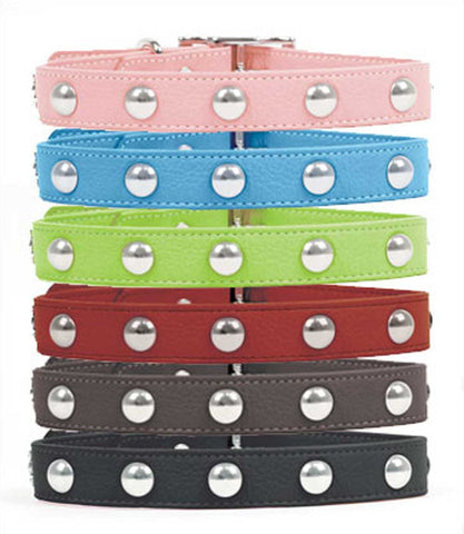 Outlet: Domed Rivet Soft Dog Collars