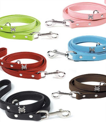 Outlet: Soft Leather Dog Leash by Rockin Doggie