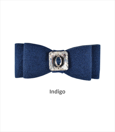 Indigo Big Bow Hair Bow for Small Dogs By Susan Lanci