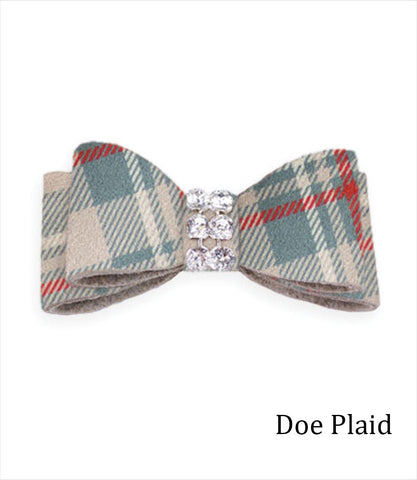 Susan Lanci Scotty Plaid Giltmore Hair Bows