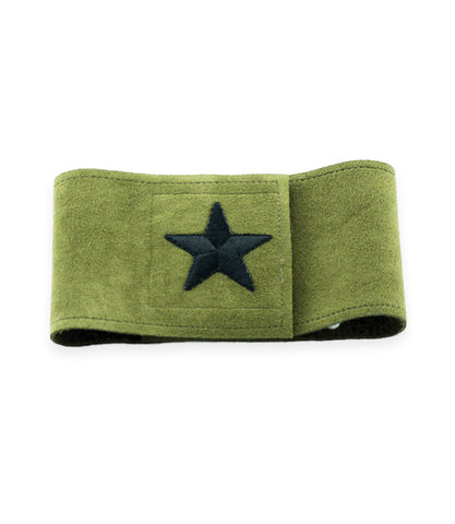 Susan Lanci Belly Band in Olive with black Star