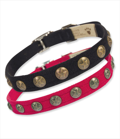 Bronze Stars collars black and red