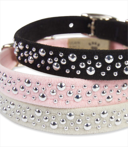 Susan Lanci silver bubbles collars stacked