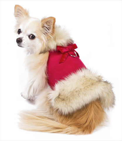 Harness Dog Coat - Susan Lanci Red Faux Fox