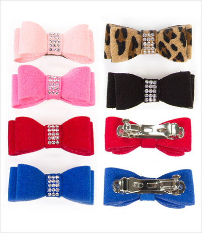 Susan Lanci Crystal Pave Dog Hair Bow
