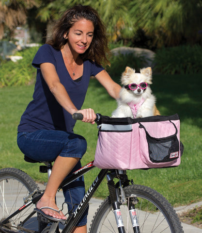 Dog Bike Basket - Pink Buddy Model