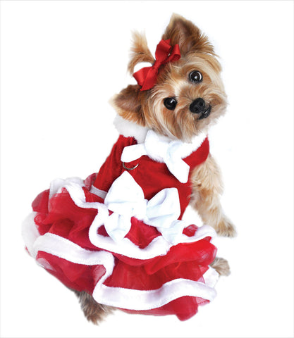 Santa Girl Dog Holiday Dress