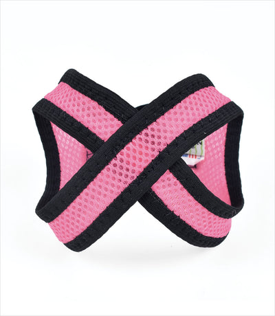 Pink so-soft mesh choke-free dog harness by scrappy