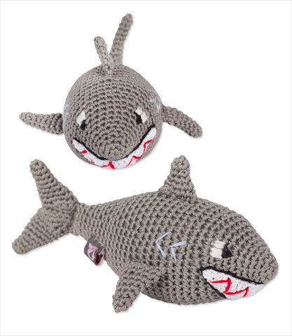 Shark Knit Dog Toy