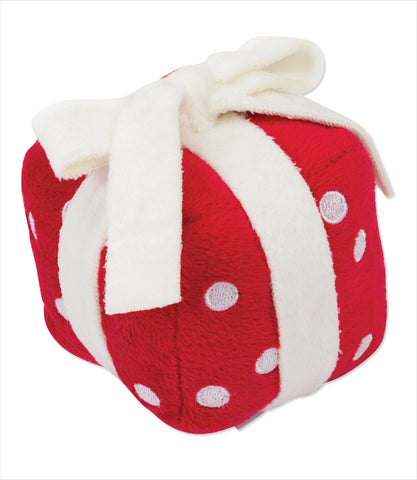 Singing Holiday Plush Dog Present Toy