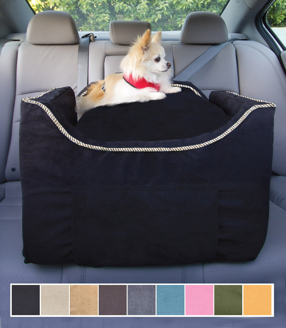 Black Medium Dog Lookout Car Seat With Chihuahua