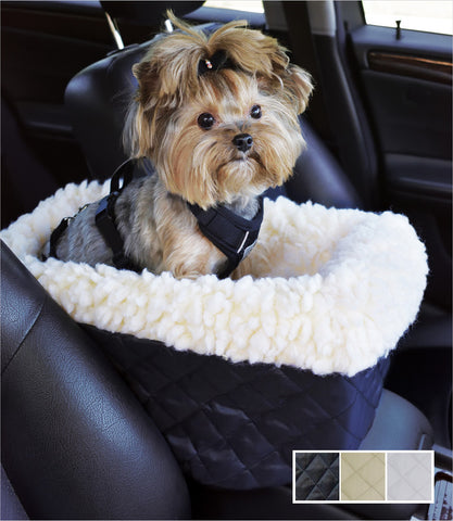 Quilted Small Console Dog Car Seat