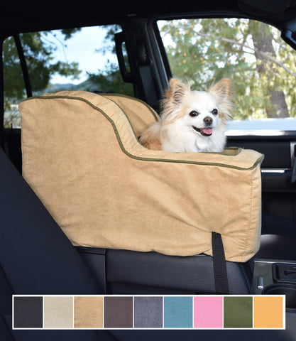 Chihuahua in Camel Large Console High Back Dog Car Seat