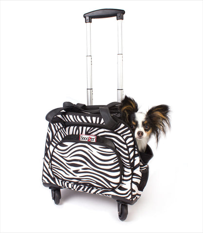 Snoozer Cooper Dog Travel Bag - Zebra